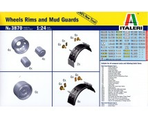 Italeri 1:24 Wheels rims and mud guards