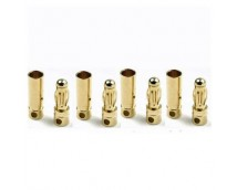4mm Gold Connectors Kort 4 paar