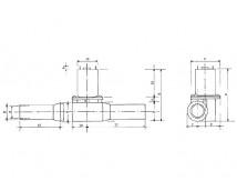Raboesch Boegschroef 16x14mm
