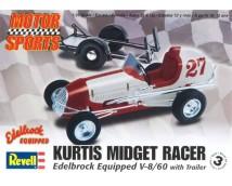 Revell Monogram Kurtis Midget Racer Edelbrock V8 met Trailer 1:25
