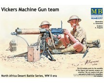 Master Box 1:35 Vickers Machine Gun team WWII