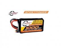 RC-Plus Sport Power 3S 11,1V 1000mAh 30C LiPo (Deans)