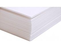 Polystyrolplaat Wit 25x50cm x 1,0mm dik