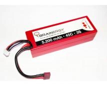 Yuki Brainergy 11,1V 5400mAh 50C Hardcase LiPo (Deans Plug)