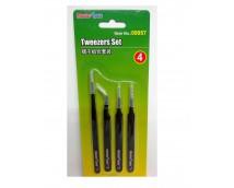 Master Tools Tweezers Set 4pcs.