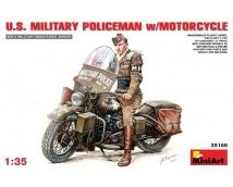 Mini Art 1:35 US Military Policeman w. HD Motorcycle WWII