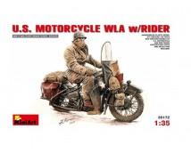 MiniArt 1:35 US Harley Davidson WLA Motorcycle w. Rider