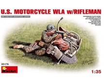 MiniArt 1:35 US Harley WLA Motorcycle with Rifleman