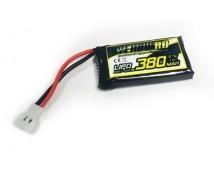 Yellow RC 3,7V 380mAh LiPo (X4 Plug)