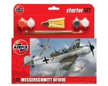 Airfix 1:72 Messerschmitt Bf109E-3 STARTER SET