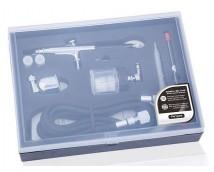 Fengda BD-134K Double Action Airbrush met 0,2 - 0,3 - 0,5mm nozzle + Compressorslang