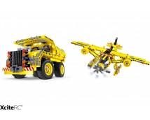 Tekno Bricks Kiepauto en Vliegtuig 2in1 Kit