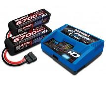 Traxxas 8S Combo X-Maxx (2x 14,8V 6700mAh LiPo + 4S LiPo Live iD  Lader)
