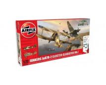 Airfix Gloster Gladiator Mk1 + Junkers Ju87R-2 MODEL SET incl lijm en verf   A50179