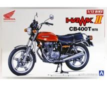 Aoshima 1:12 Honda Hawk II CB400T 1978