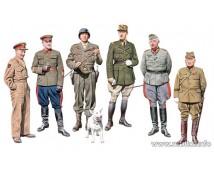 Master Box 1:35 Generals Of WWII  6st. Figuren Set