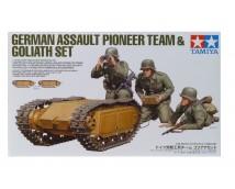 Tamiya 1:35 German Assault Pioneer Team and 2 Goliaths set