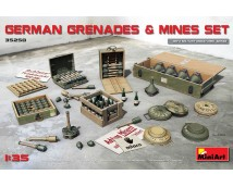 MiniArt 1:35 German Grenades and Mines Set WWII