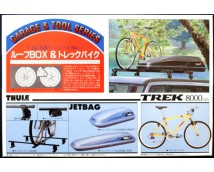 Fujimi 1:24 Roof Box and Trekking Bike Kit