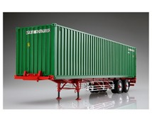 Aoshima 1:32 Sea Freight 2 Axis Trailer with 40Ft. Container