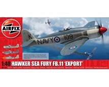"""Airfix 1:48 Hawker Sea Fury FB.11 """"Export""""  (NL DECALS!)   A06106"""