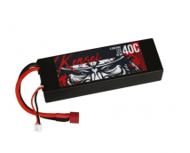 Kensei 7,4V 5000mAh 40C Hardcase LiPo Deans stekker