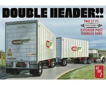 AMT 1:25 Double Header Tandem Van Trailers