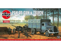 Airfix 1:76 Opel Blitz and PAK 40 Gun (Vintage Classic) A02315V