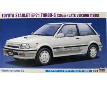 Hasegawa Toyota Starlet EP71 Turbo 1988