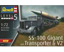 Revell 1:72 SS-100 Gigant with Transporter & V2