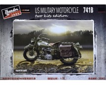 Thunder Model 1:35 Indian 741B US Military Motorcycle