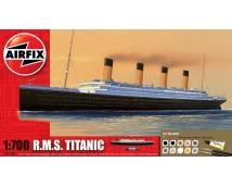 Airfix 1:700 RMS Titanic Gift Set incl lijm, verf en kwasten.    A50164A