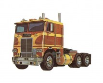 AMT 1:25 White Freightliner Dual Drive Truck