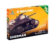 Italeri 1:72 World Of Tanks SHERMAN Easy to Build kit