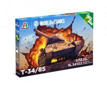 Italeri 1:72 T-34/85 World Of Tanks