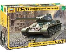 Zvezda 1:35 T-34/85 Soviet Medium Tank Model 1944      ZVZ3687
