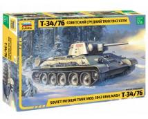 Zvezda 1:35 T-34/76 Soviet Medium Tank Mod. 1943 Uralmash   ZVE3689