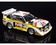 Aoshima 1:24 Beemax Audi Sport Quattro S1 '86 Monte Carlo Rally