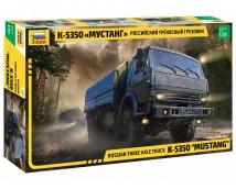 Zvezda 1:35 K-5350 MUSTANG  Russian 3-Axle Truck     3697