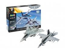 Revell 1:72 Movie Set TOP GUN F/A-18E Super Hornet + F14-D Tomcat incl. Lijm en Verf Giftset        05677