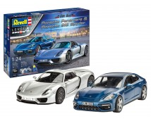 Revell 1:24 Porsche Gift Set : Panamera + Porsche 918 Spider     05681