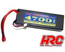 HRC 7,4V 2S 4700mAh 40C Hard Case LiPo T-Stekker