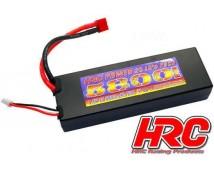 HRC 7,4V 5800mAh 2S LiPo 50C Hard Case T-Stekker (Deans)