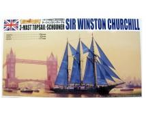 Aoshima 1:350 Sir Winston Churchill 3 mast topsail schooner
