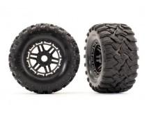Traxxas MAXX Wheels Black 2pcs.  17mm splined hex   TRX8972
