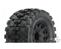 """Proline Badlands BELTED MX38 3.8"""" 17mm HEX Monster Truck Wheels mounted 2pcs.  PR10166-10"""