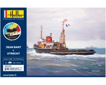 Heller 1:200 Jean Bart en Wijsmuller Utrecht (2x scheeps modelkit)       HEL-85602