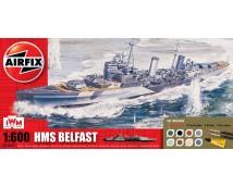 Airfix HMS Belfast Gift Set incl lijm en verf     A50069