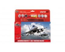 Airfix 1:72 Lockheed MArtin F-16A Fighting Falcon Starter Set incl lijm en verf     A55312