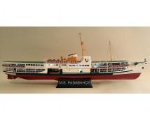 TurkModel 1:87 PAŞABAHÇE Bosphorus Ferry, Houten Modelschip Bouwkit 85cm     TRK-141